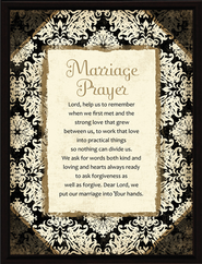Marriage Prayer Plaque, Black Frame   -