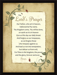 The Lord's Prayer Plaque  -