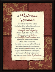 A Virtuous Woman Plaque  -