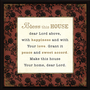 Bless This House Plaque  -