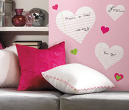 Hearts Dry Erase Vinyl Wall Stickers  -