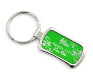 Personalized, Proverbs 31:29 Keyring, Green   -
