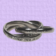 Triple Band Ring, Jeremiah 29:11, Size 6  -