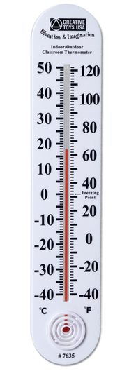 Indoor/Outdoor Classroom Thermometer  -