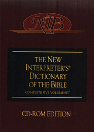 The New Interpreter's Dictionary of the Bible on CD-ROM  - Slightly Imperfect  -
