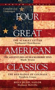 Four Great American Classics - eBook  -     By: Nathaniel Hawthorne, Mark Twain, Stephen Crane