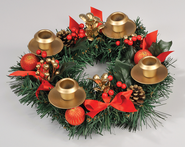 Berry Advent Wreath  -