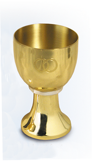 Solid Brass Wedding Chalice   -