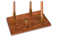 Pew Candlestick Storage Stand (Oak)  -