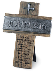 John 3:16 Wall Cross, Small  -