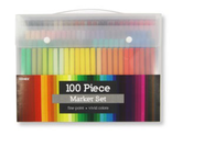 100 Piece Fine Point Markers Set  -
