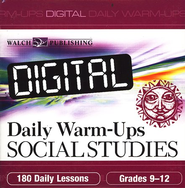 Digital Daily Warm-Ups, Social Studies, Grades 9-12    -