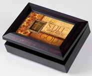 Music Box with Be Still and Know Cover, with Digital Music Compartment  -