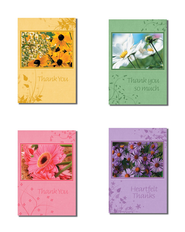 Flowers Thank You Cards, Box of 12  -