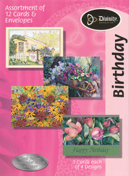 Gardens Birthday Cards, KJV, Box of 12  -