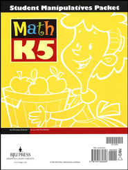 BJU Math K5 Student Manipulatives Packet (3rd Edition)   -