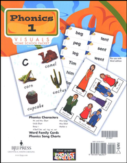 BJU Phonics Grade 1 Homeschool Visual Flipchart   -