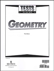 BJU Geometry Tests, Grade 10, Third Edition    -