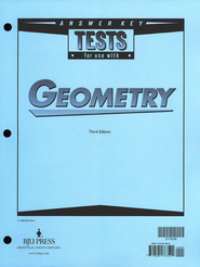 BJU Geometry Tests Answer Key, Grade 10 (Third Edition)    -