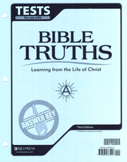 Bible Truths A Test Answer Key, Grade 7, 3rd Edition   -