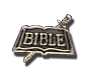 Sword and Bible Lapel Pin, Gold Plated  -