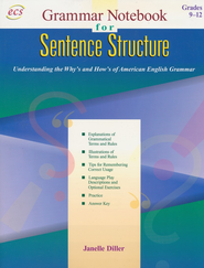 Sentence Structure: Grammar Notebook (Book 2), Grades  9 to 12  -