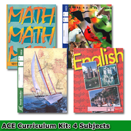 ACE Core Curriculum Kit (4 Subjects), PACEs Only, Grade 2, 3rd Edition (with 4th Edition Science & Social Studies)  -