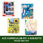ACE Core Curriculum Kit (4 Subjects), PACEs Only, Grade 7, 3rd Edition (with 4th Edition Math & Social Studies)  -
