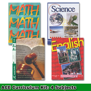 ACE Core Curriculum (4 Subjects), Single Student PACEs Only Kit, Grade 11, 3rd Edition (with 4th Edition Social Studies)  -