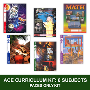 ACE PACEs Grade 4 6-Subject Curriculum Kit (3rd Edition with 4th Edition Social Studies & Science)  -