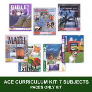 ACE Comprehensive Curriculum (7 Subjects), Single Student PACEs Only Kit, Grade 3, 3rd Edition (with 4th Edition Science & Social Studies)  -