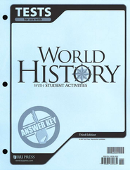 BJU World History Testpack Answer Key Grade 10, Third Edition    -