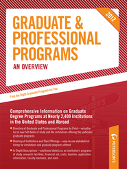 Peterson's Graduate & Professional Programs: An Overview 2012 - eBook  -     By: Peterson's