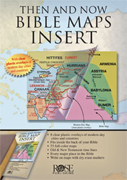Then and Now &#174 Bible Maps Insert - eBook   -     By: Rose Publishing