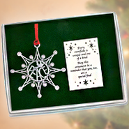 Snowflake Ornament, Peace  -