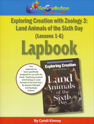 Exploring Creation with Zoology 3: Land Animals of the  6th Day Lessons 1-6 Lapbook  -