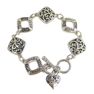 Filigree Bracelet with Heart  -