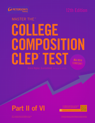 Master the College Composition CLEP Test: Part II of VI - eBook  -     By: Peterson's