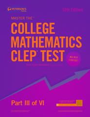 Master the College Mathematics CLEP Test: Part III of VI - eBook  -     By: Peterson's