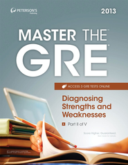 Master the GRE: Diagnosing Strengths and Weaknesses: Part II of V - eBook  -     By: Peterson's