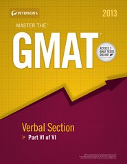 Master the GMAT: GMAT Verbal Section: Part V of V - eBook  -     By: Peterson's