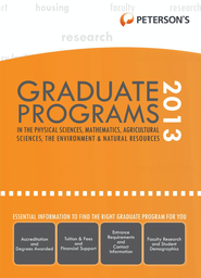 Graduate Programs in the Physical Sciences, Mathematics, Agricultural Sciences, the Environment & Natural Resources 2013 (Grad 4) - eBook  -     By: Peterson's