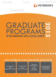 Graduate Programs in the Humanities, Arts & Social Sciences 2013 (Grad 2) - eBook  -     By: Peterson's