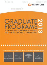 Graduate Programs in the Biological Sciences 2013 (Grad 3) - eBook  -     By: Peterson's