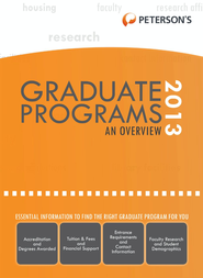 Graduate & Professional Programs: An Overview 2013 (Grad 1) - eBook  -     By: Peterson's