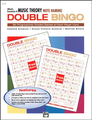 Essentials of Music Theory, Note Naming Double Bingo Game   -