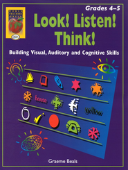 Look! Listen! Think! Grades 4-5 Building Visual, Auditory and Cognitive Skills  -     By: Jean Edwards