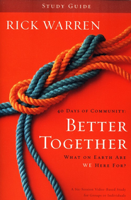 Better Together, Study Guide, Softcover - Slightly Imperfect  -