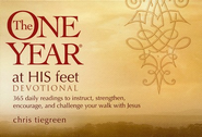 The One Year At His Feet Devotional: 365 Daily Readings to Instruct, Strengthen, Encourage, and Challenge Your Walk with Jesus (myBooks)  -     By: Walk Thru The Bible, Chris Tiegreen
