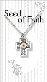 Mustard Seed Cross Necklace  -